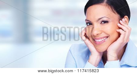 Asian business woman face.