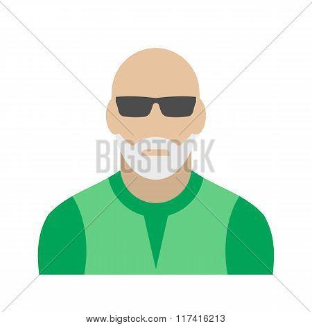 Man with gray beard avatar icon