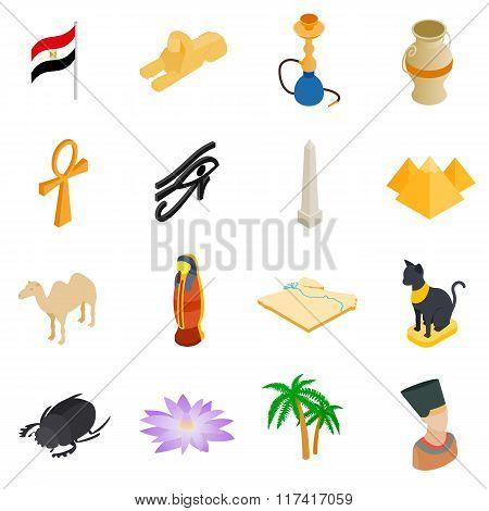 Egypt isometric 3d icons
