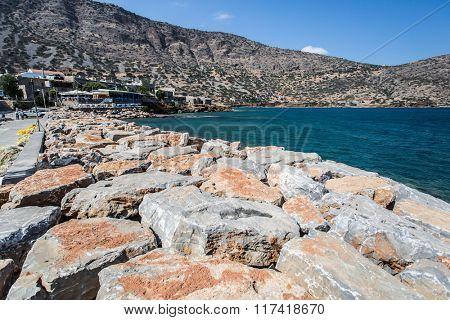 Sea coast line. Crete. Greece