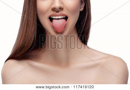 Natural Tongue Open Mouth