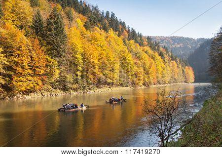 Autumn Rafting - Dunajec River