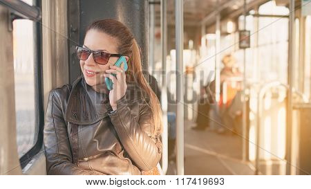 Using smartphone in public transport