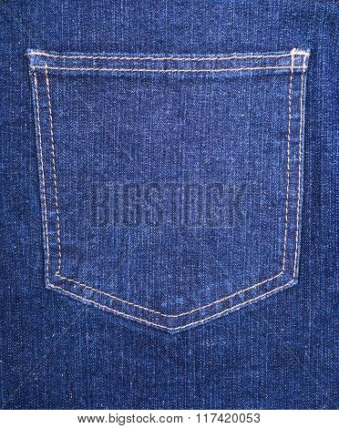 Blue Jeans Pocket Closeup