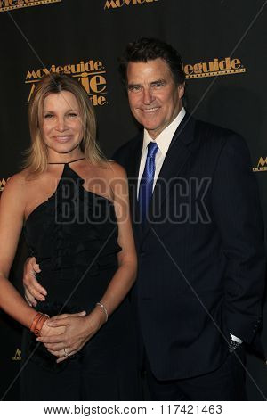 LOS ANGELES - FEB 5: Gigi Rice, Ted McGinley at the 24th Annual MovieGuide Awards at Universal Hilton Hotel on February 5, 2016 in Universal City, Los Angeles, California
