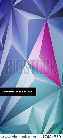 Vector abstract polygonal background design.
