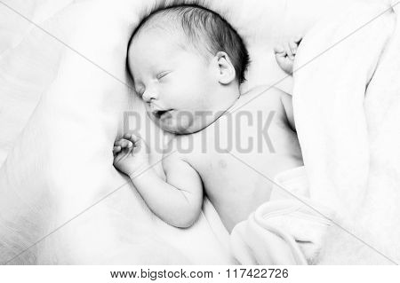 Child Baby Infant Beautiful Portrait Black And White