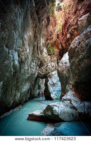Tourists in Saklikent Gorge