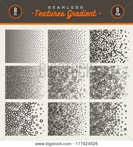 Set of seamless textures gradient -  vector illustration