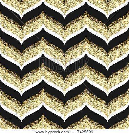 Vector seamless background with glitter gold