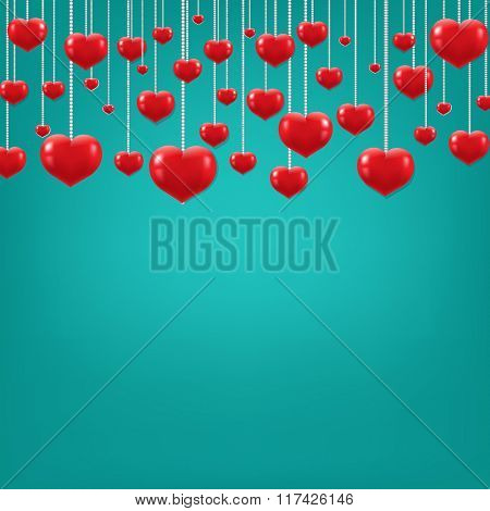Happy Valentines Day With Gradient Mesh, Vector Illustration
