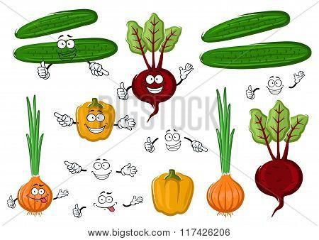 Fresh and tasty farm vegetables