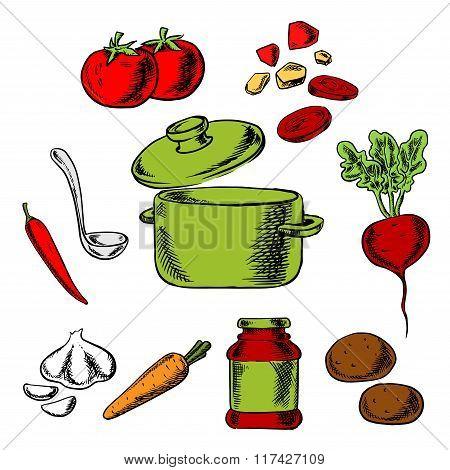 Recipe of tasty vegetarian soup