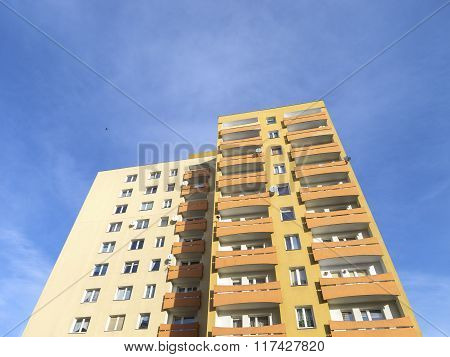 Residential Apartment Against Blue Sky