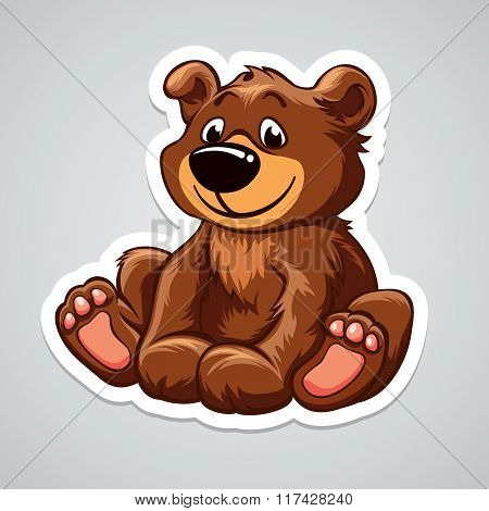 Vector illustration with lovely little bear