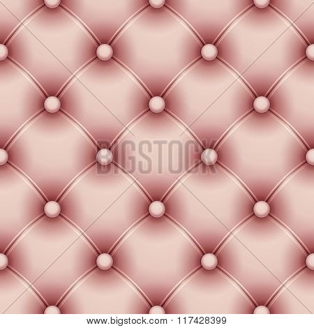 Vector seamless pattern with pink upholstery