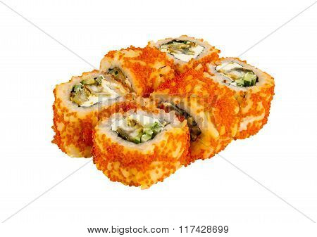Japanese Roll Isolated