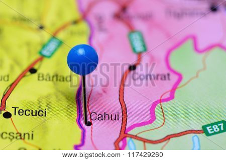 Cahui pinned on a map of Moldova