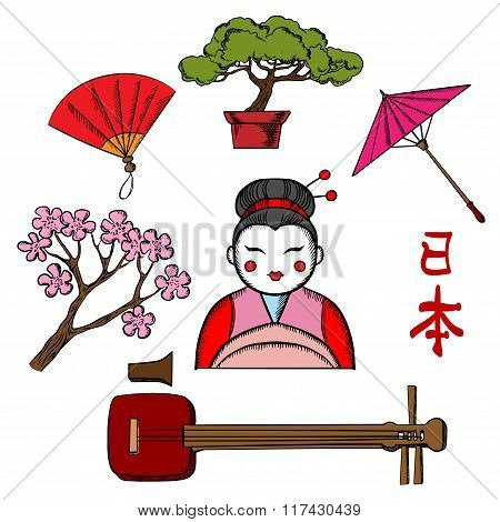 Japanese travel and culture icons