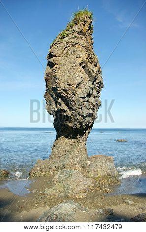 Whimsical rock -  mushroom , Sakhalin Island