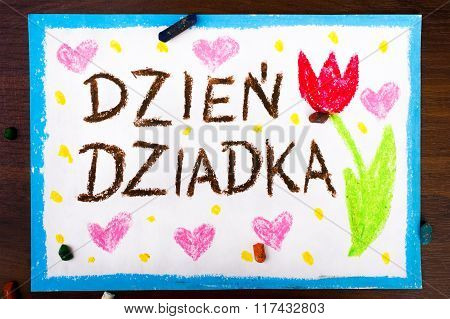 Polish  grandfather's day card