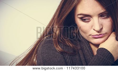 Unhappy And Sad Woman