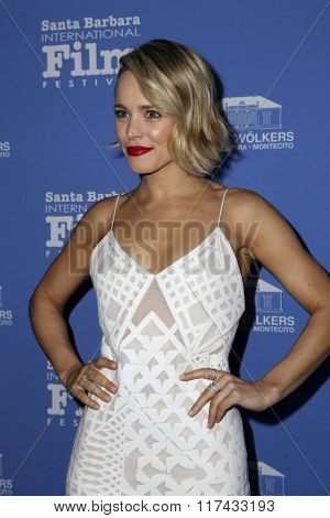 SANTA BARBARA - FEB 5:  Rachel McAdams at the 31st Santa Barbara International Film Festival - American Riviera Award at the Arlington Theatre on February 5, 2016 in Santa Barbara, CA