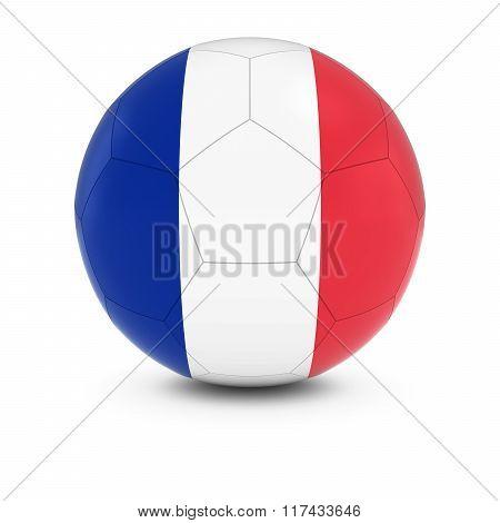 France Football - French Flag On Soccer Ball