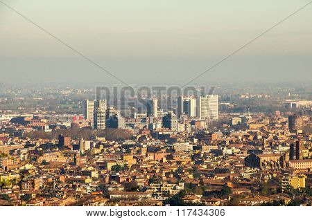 Bologna Fiera District Aerial View