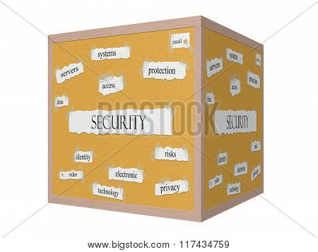 Security 3D Corkboard Word Concept