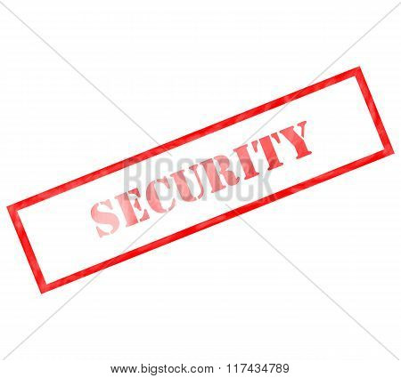 Red Rectangle Security Stamp