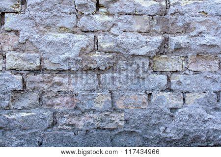 Old Brick Gray Wall