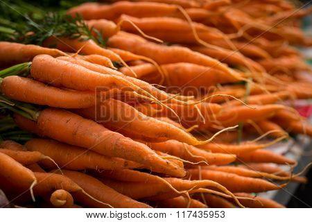 Local Carrots At A Farmers Market