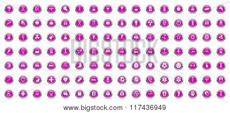 business and technology internet violet icons set