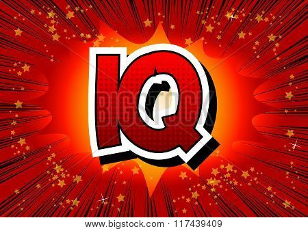 Iq - Comic Book Style Word.