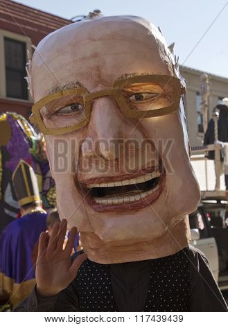 Bernie Sanders Mardi Gras Head