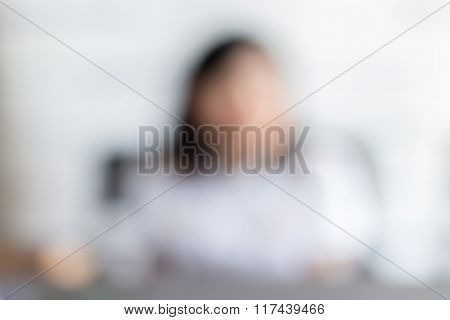 Unrecognized Woman In Conference Event Hall, Business Concept.