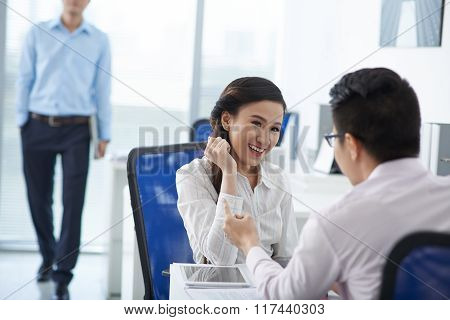 Flirting with colleague