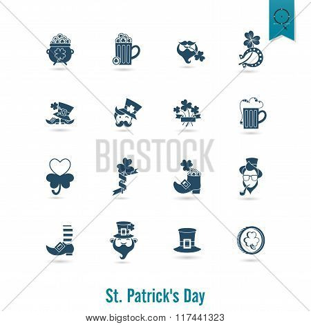 Saint Patricks Day Isolated Icon Set