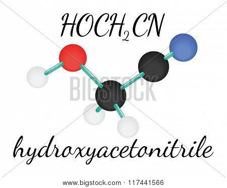 HOCH2CN hydroxyacetonitrile molecule