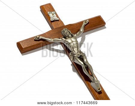 Close Up On The Crucified Figure Of Christ