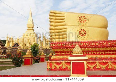 Buddha statue, Vientiane, Laos.