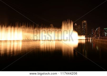 Dancing fountains in Dubai Mall, Dubai Downtown, UAE
