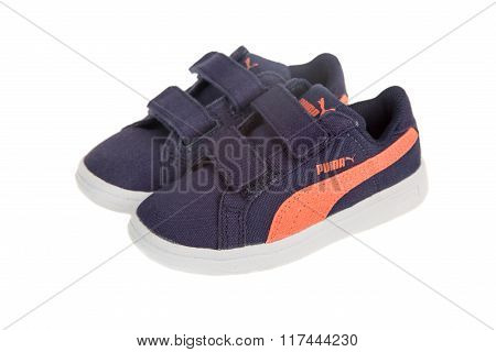 Puma Children Shoes. Puma, A Major German Multinational Company. Iso