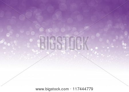 Purple Glitter Surface With Purple Light Bokeh With White Empty Copy Space - It Can Be Used For Back
