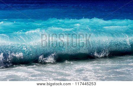 Beautiful Blue Sea Wave