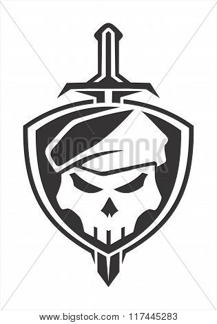 army skull shield