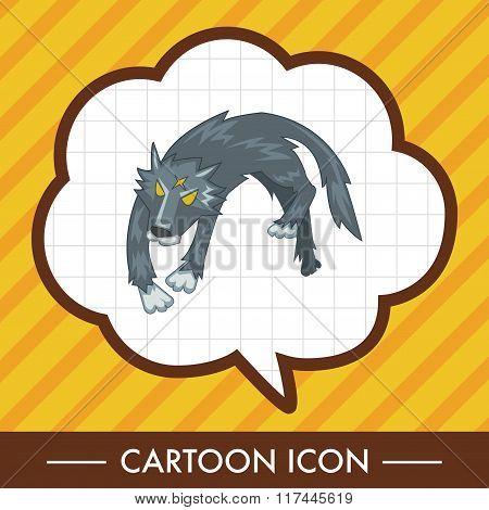Animal Wolf Cartoon Theme Elements