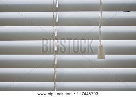 Closed Venetian blinds