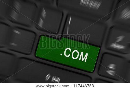 Computer Key Green - .com
